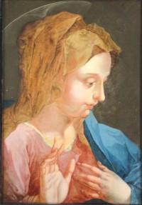 SH Enchères, Sophie Himbaut commissaire-priseur Belle vente de bijoux, objets d'art, tableaux et mobilier le mercredi 16 décembre à 14h. ecole-italienne-du-xviieme-siecle-portrait-de-la-vierge
