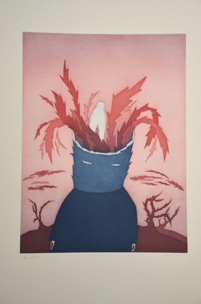 SH Enchères, Sophie Himbaut commissaire-priseur Belle vente de livres, objets d'art, tableaux et meubles jean-michel-folon-jorge-luis-borges-les-ruines-circulaires-1977-livres-estampes