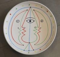 SH Enchères, Sophie Himbaut commissaire-priseur Belle vente de tableaux, meubles et objets d'art le vendredi 19 Mars jean-cocteau-harem-1958.plat-atelier-madeline-jolly