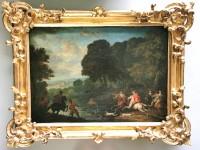 SH Enchères, Sophie Himbaut commissaire-priseur Belle vente de tableaux, objets d'art et collections le vendredi 25 juin à 14h jan-peeter-verdussen-scene-de-chasse-a-cour