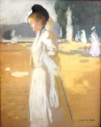 SH Enchères, Sophie Himbaut commissaire-priseur Belle vente de tableaux, objets d'art et collections le vendredi 25 juin à 14h lucien-victor-guirand-de-scevola-elegante-aux-tuileries