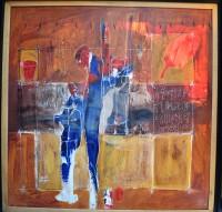SH Enchères, Sophie Himbaut commissaire-priseur Vente de fonds de maison du mardi 25 mai à 10h hamed-ouattara-tableau-contemporain-africain
