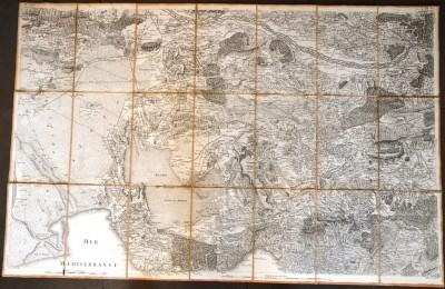 SH Enchères, Sophie Himbaut commissaire-priseur Vente de livres du mercredi 27 octobre à 10h ch.picquet-geographe-graveur-de-l-empereur-plan-de-la-ville-d-aix-en-provence