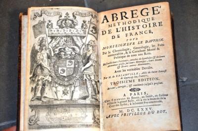 SH Enchères, Sophie Himbaut commissaire-priseur Vente de livres du mercredi 27 octobre à 10h de-brianville-abrege-methodique-de-lhistoire-de-france
